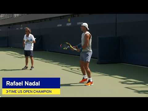 Rafael Nadal and Juan Martín del Potro Practice Side-By-Side at the 2018 US Open