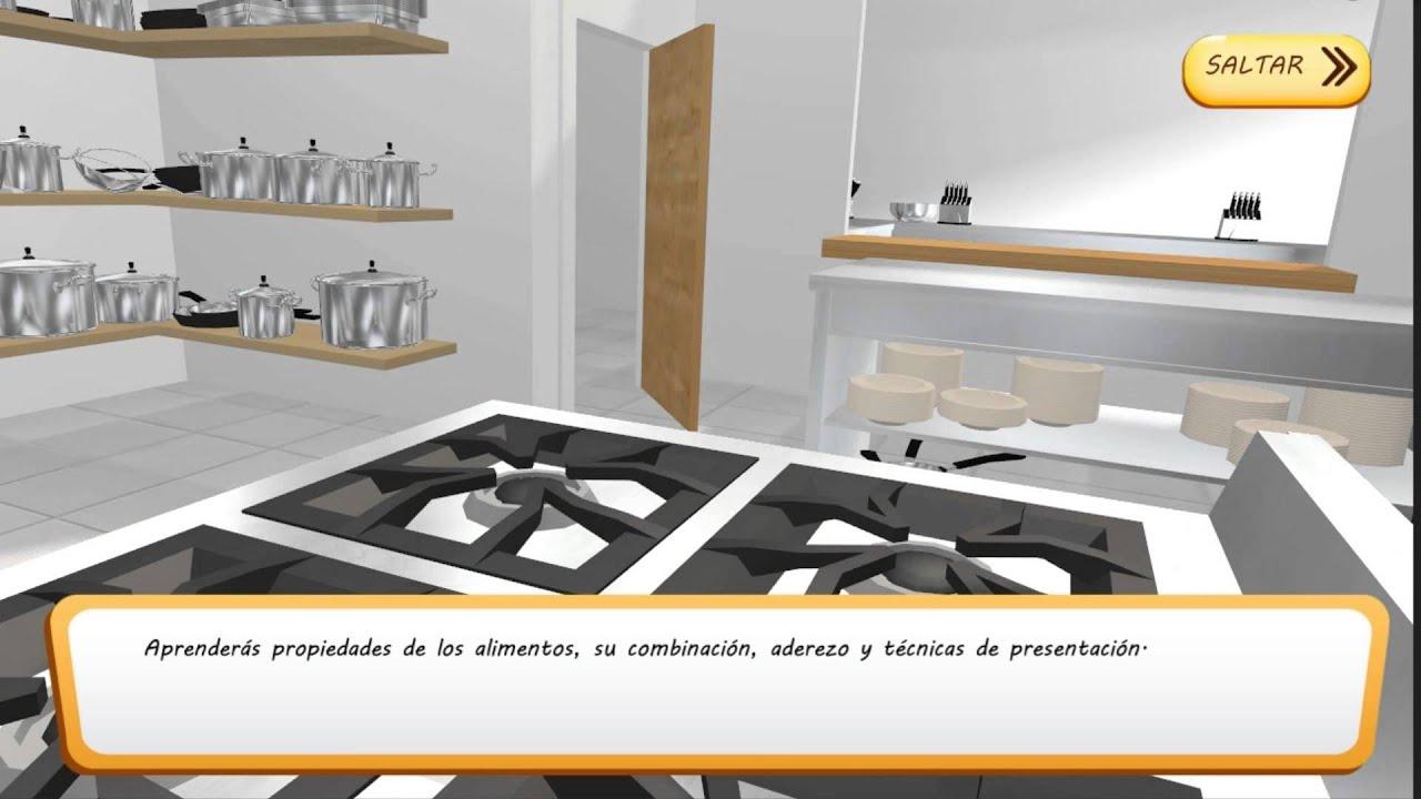 Conoce el simulador del curso de fp de cocina y gastronom a youtube - Simulador cocinas ...