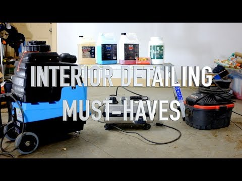 Must-have tools and chemicals for interior detailing!