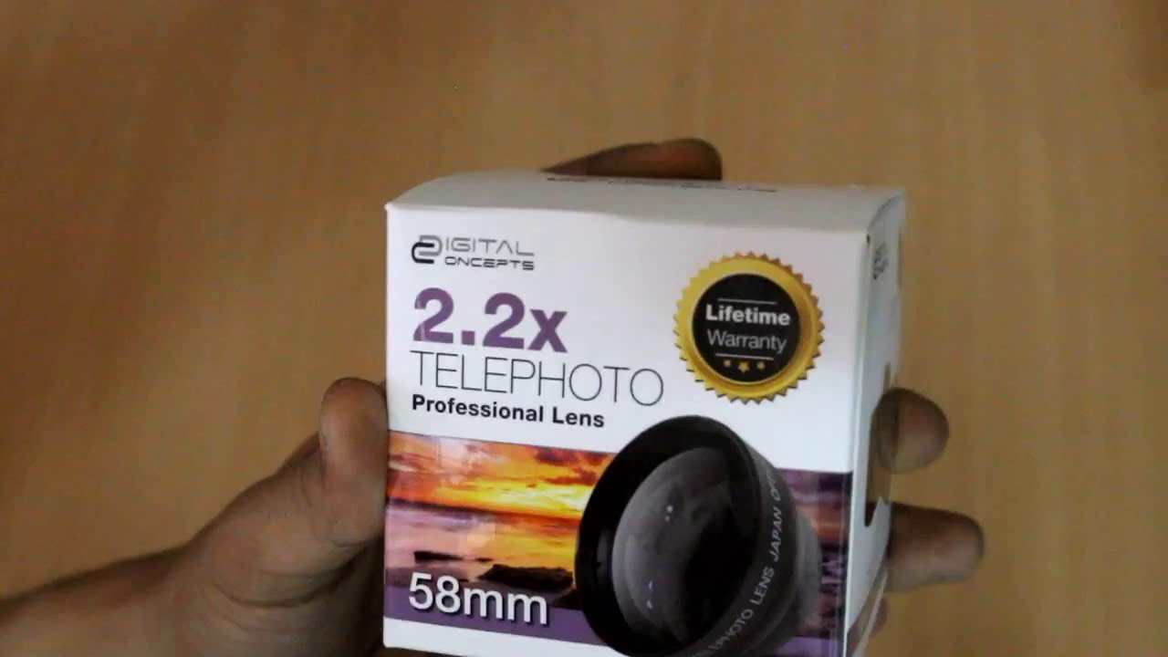 22x Telephoto Professional Lens 58mm Unpacking Youtube