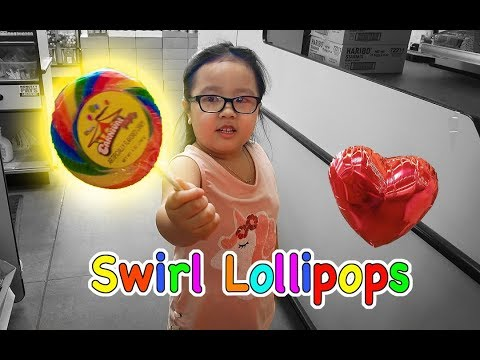 Annica Shopping At Dollar Tree Again - Getting A Balloon And A Swirl Lollipop