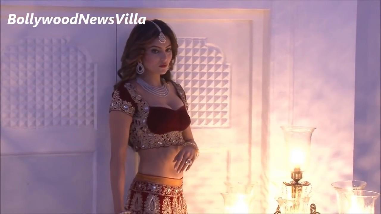 Urvashi Rautela\'s Photoshoot in Hot Wedding Lehenga Choli   BEHIND ...
