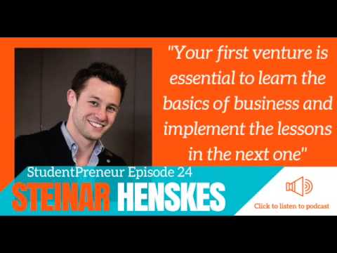 StudentPreneur Podcast #24: How playing with lasers and birds led Steinar to a 6 figure business