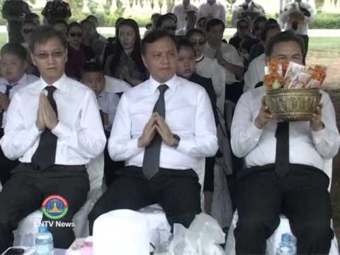 Lao NEWS on LNTV: Mj Gen Sannhahak Phomvihane remains reinterred at National Cemetery.14/5/2014