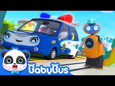 Police Car is Running out of Gas | Monster Cars, Fire Truck | Kids Cartoon | Kids Songs | BabyBus