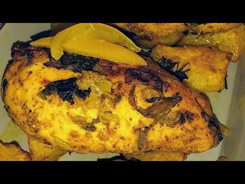 blanc-de-poulet-mariné-au-four