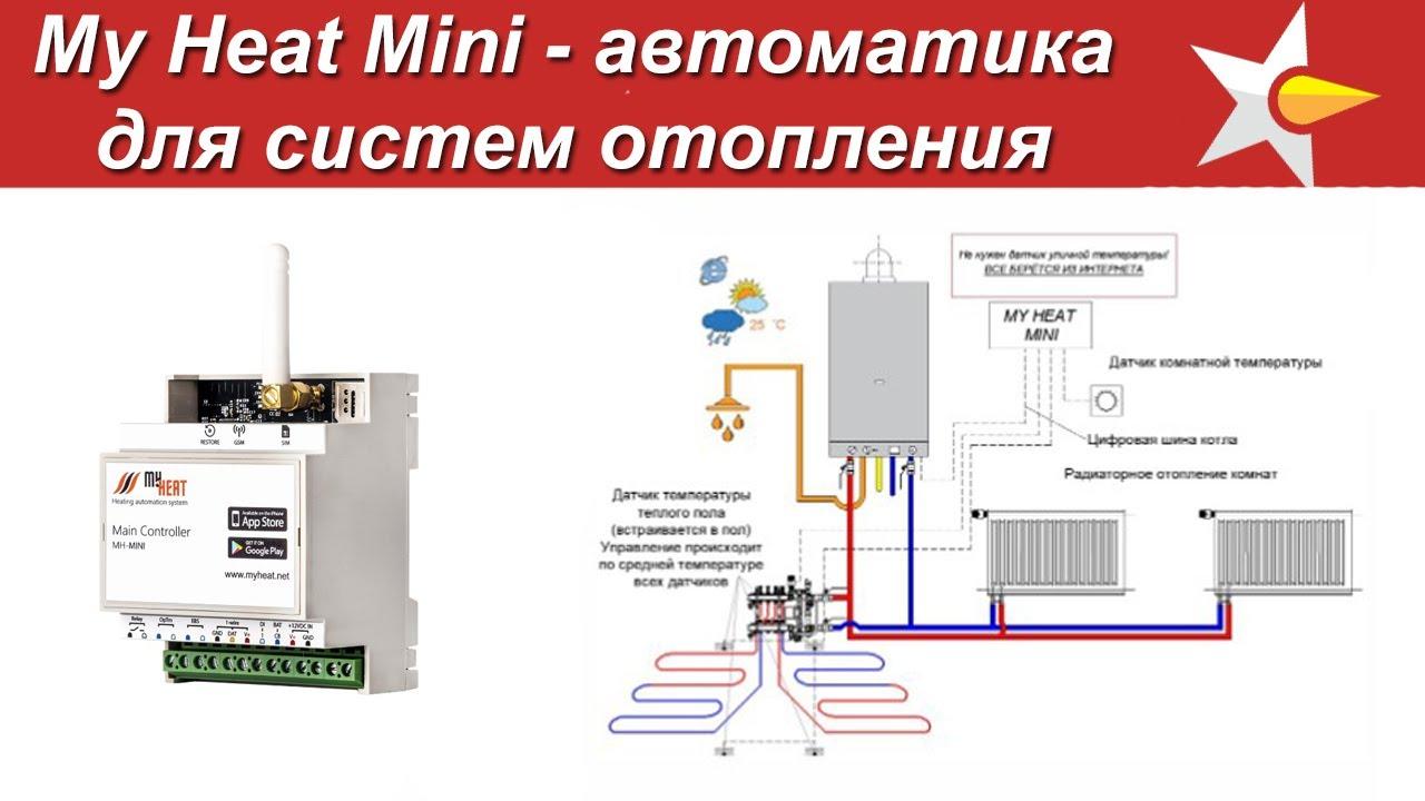 Автоматика для систем отопления My Heat Mini - Первый обзор!