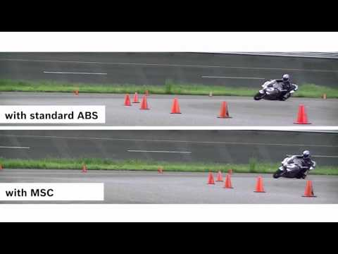 Bosch Motorcycle Stability Control (MSC) in action