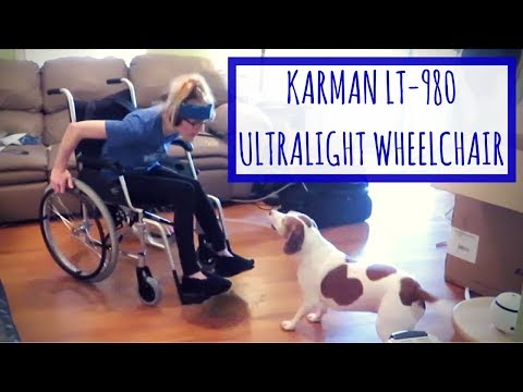 NEW WHEELCHAIR! KARMAN LT 980 ULTRA LIGHTWEIGHT UNBOXING AND REVIEW
