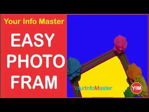 How to Make Easy Photo Frame   DIY Photo Frame   Baby Gift