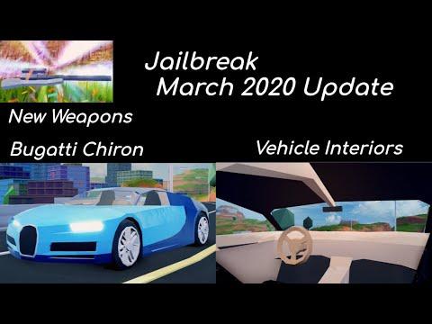 Full Guide Roblox Jailbreak Bugatti Chiron Updatenew Weapons And