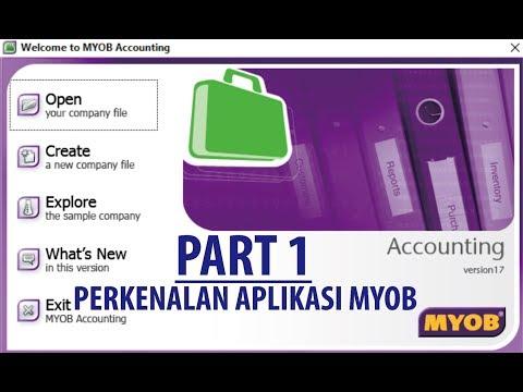 Cara Membuat Akun Pada MYOB V.18.