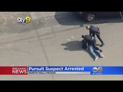 Armed Robbery Suspect Caught In Van Nuys After Wild Pursuit