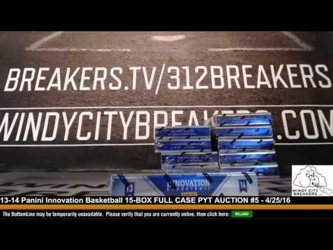 13-14 Panini Innovation Basketball 15-BOX FULL CASE PYT AUCTION #5 - 4/25/16