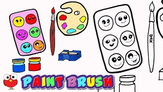 HOW TO PAINT BRUSH COLOR PALATE COLOR BOX ERASER  STEP BY STEP