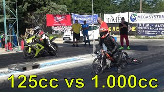 125cc vs 1000cc (you don't expect this)