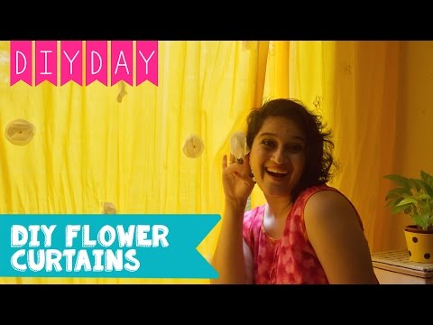 Easy DIY Flower Curtains I Room Decor Ideas | DIY Day Homes