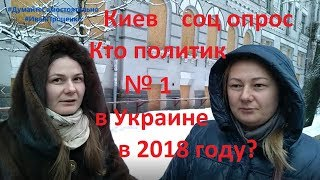 Киев Кто политик №1 2018 года в Украине соц опрос Иван Проценко