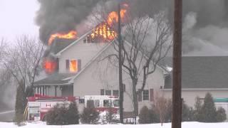 kingsville fire crew battle house fire on rd 8 jan 11 2014