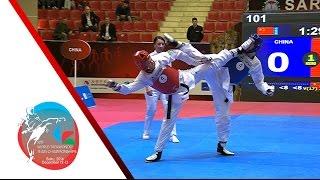 [SEMI FINAL] FEMALE Team   CHINA vs. TURKEY / 2016 WTF World Taekwondo Team Championships