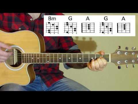 Sunrise Avenue - Fairytale gone bad acoustic guitar tutorial
