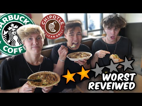 We Tried the WORST REVIEWED Starbucks and Chipotle | WeAreTheDads
