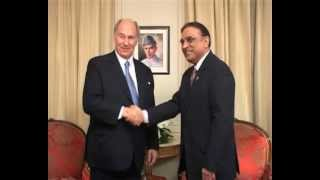Prince Karim Aga Khan calls on President Zardari of Pakistan - December 10, 2012