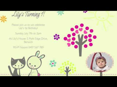 First Birthday AnimatedVideo Invitation Example YouTube - Birthday invitation video