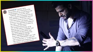 Karan Patel SLAMS Bollywood FILM Makers In An Open Letter On Social Media
