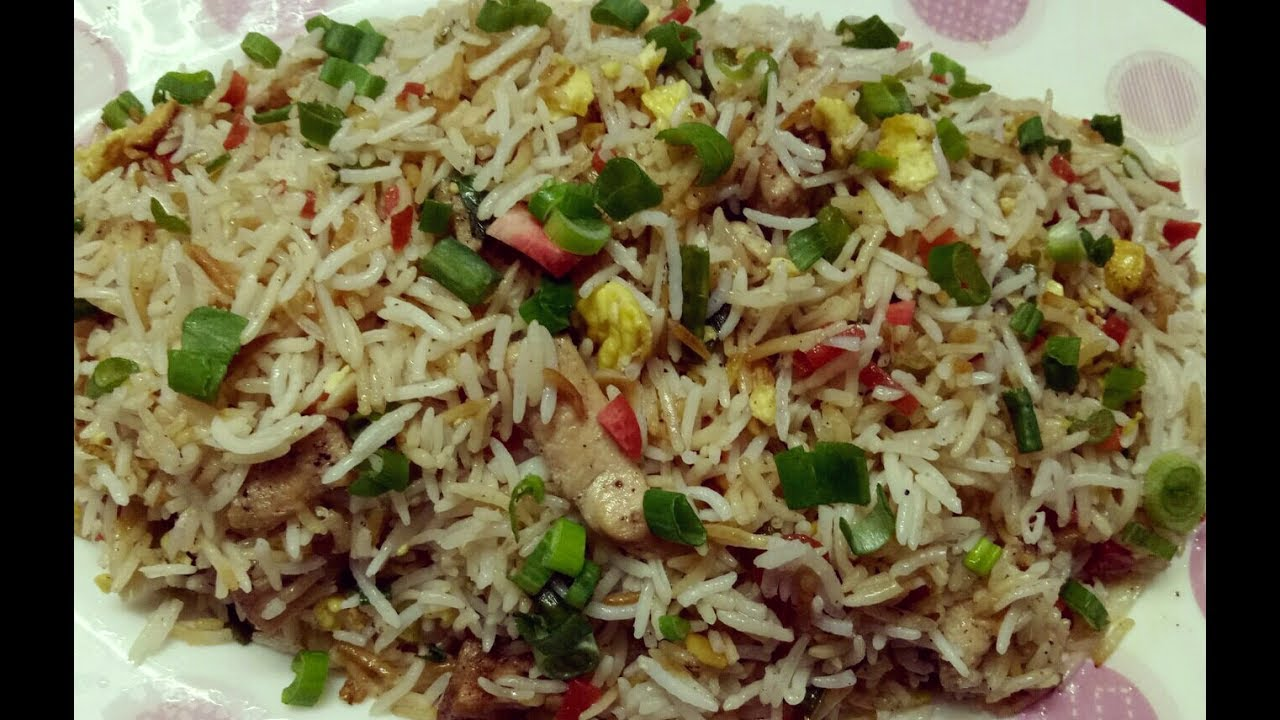 Chicken Fried Rice | Restaurant Style | Indo Chinese ...