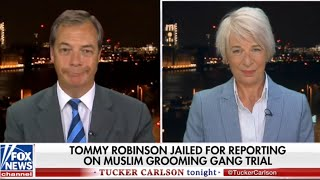 Nigel Farage & Katie Hopkins: George Soros/Tommy Robinson on Tucker Carlson Tonight.