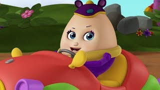 Humpty Dumpty Sat on a Car | Baby Rhymes for Children | Infobells