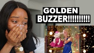darci lynne 12 year old ventriloquist golden buzzer americas got talent reaction