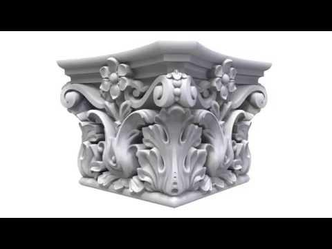 3d модель для ЧПУ,  резка из мрамора или из дерева