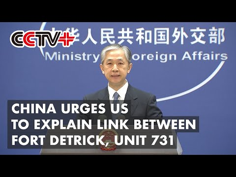 China Urges US to Explain Link between Fort Detrick, Japan's WWII Germ Warfare Unit