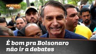 Estrategicamente para Bolsonaro é bom que ele não vá a debates, analisa Joel