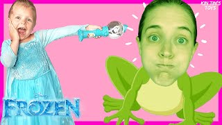 Frozen Elsa Pretend Play Magic Wand Transform into Animals for Kids | Lavievert Teepee