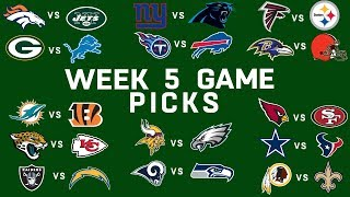 Week 5 NFL Game Picks | NFL