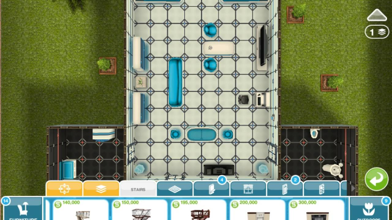 How to get a second floor on sims freeplay youtube for How to make a second floor on sims freeplay