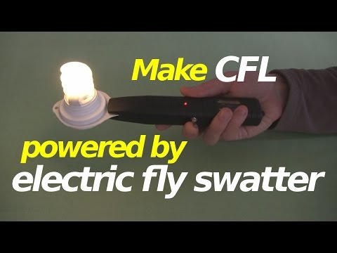 How to Make CFL Powered by Electric Fly Swatter/Racket Zapper