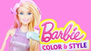 Barbie Color Change Hair Mattel Style Playset Barbie Hair Makeover Video Color Me GLAM Fashion