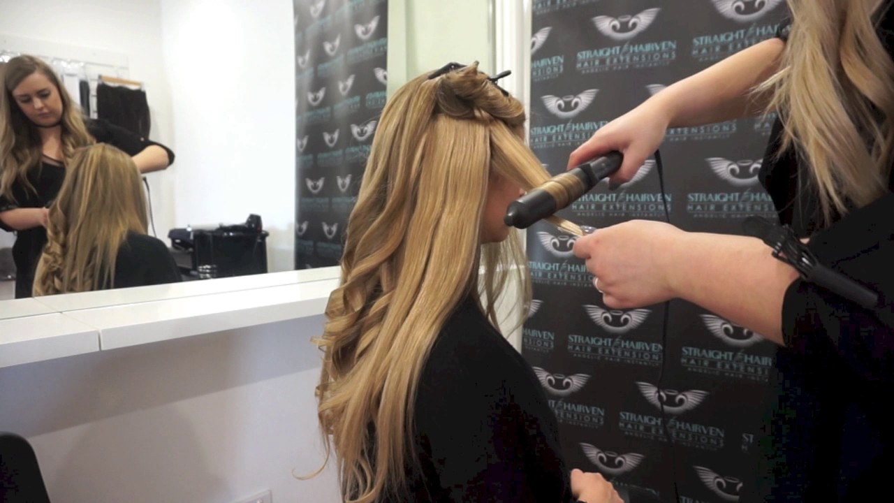 How To Styling Hair Extensions Youtube
