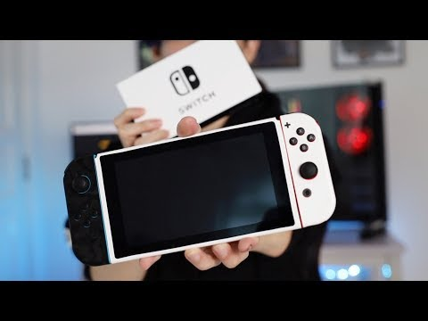 White Nintendo Switch Using The Dbrand Skin Youtube