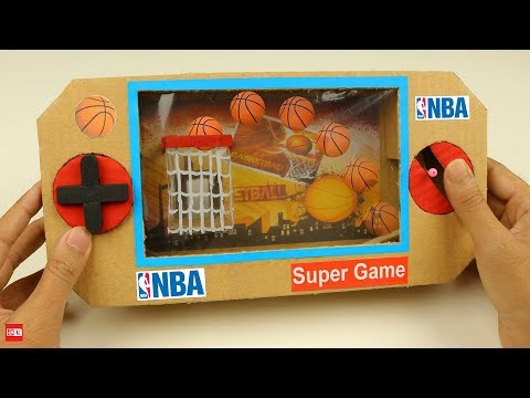 How to make NBA Mini Basketball Board Game from Cardboard DIY at Home
