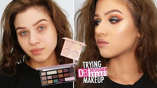 TRYING *NEW* Designer Brands Makeup / Mostly Drugstore Chit Chat GRWM