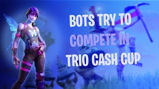 3 Bots try to compete in the Trio Cash Cup in Fortnite: Battle Royal (Steam highlights)