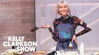 Grace VanderWaal And Kelly Make Cinnamon Roll Pancakes From The Cheesecake Factory