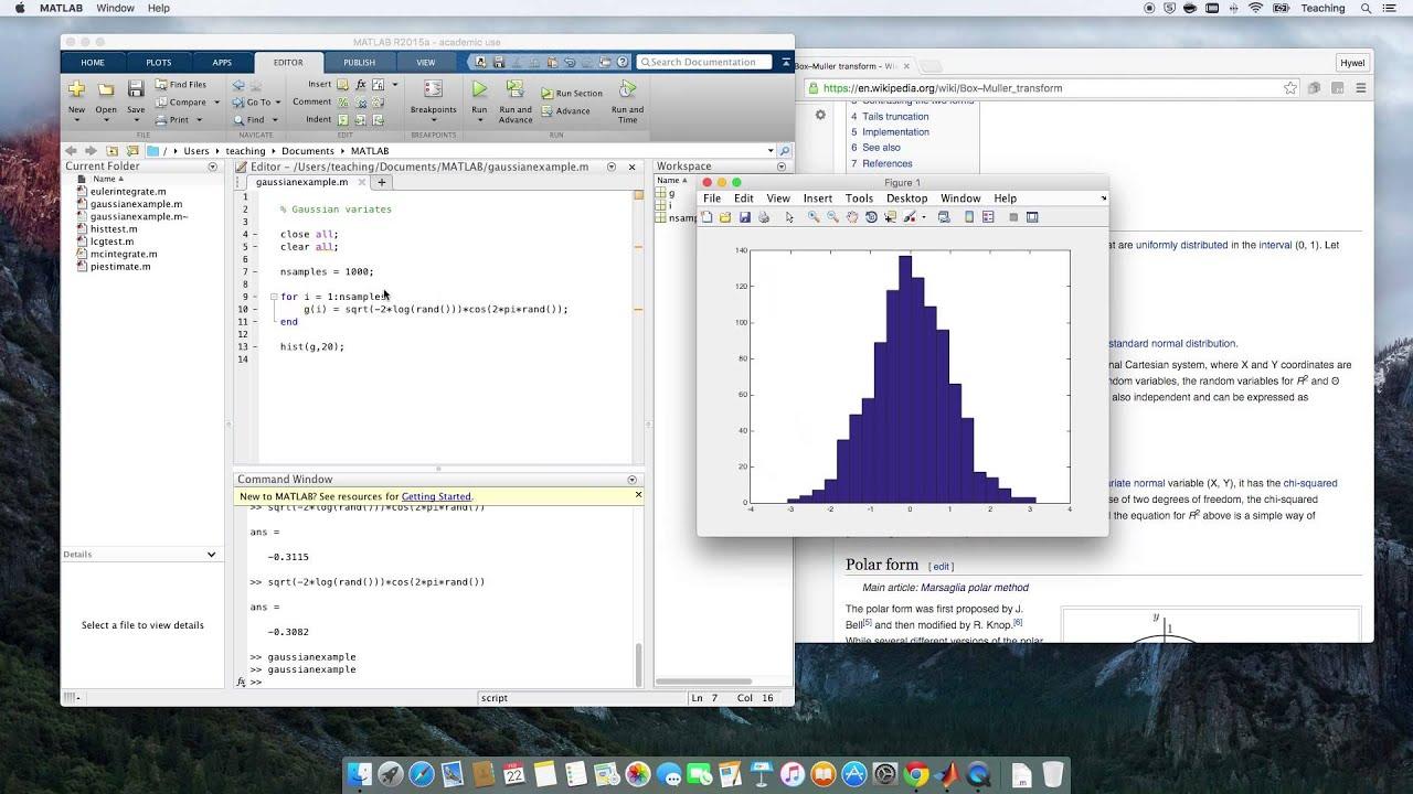 Computational Physics Video 26 - Gaussian Variates Using the Box-Muller  Transform