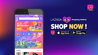 LAZADA 11.11 shopping festival - The BIGGEST ONE day sale!