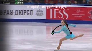 Евгения Медведева и Алина Загитова 2 Аксель Технический разбор работы рук и маховой ноги в Акселе